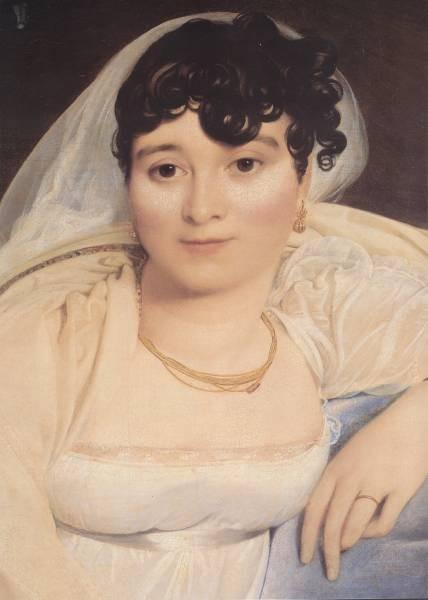 Ingres Madame Riviere detail